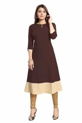 44ed17905 Crepe Kurtis Catalog 4 - Alc Creation Women s Crepe Kurti Manufacturer from  Mumbai