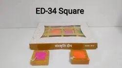 Square Diya (set Of 12)