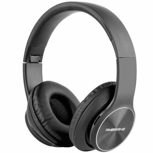 f24692a392e Black Foldable Ambrane Bluetooth Headphones WH-74   ID: 20869845033
