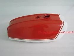 New Bsa A65 Thunderbolt Lightning Orange And White Painted Gas Petrol Tank 1970''s Model