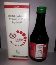 A Unique Combination of B-Complex with L-Lysine HCL Syrup