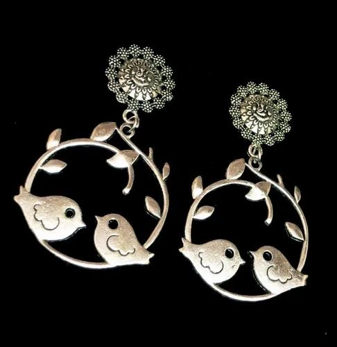 b28973606 Dangle in Chandbali Style For Girls Oxidized Earrings at Rs 55 /pair ...