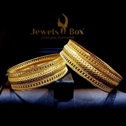 Broad Gold Bangles