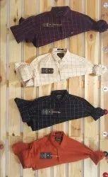 Slim Fit Cotton F20 Mens Single Line Check Shirt, Handwash