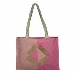 Embroidered Jute Tote Bags