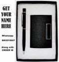 Black and Business Card Holder Gift Set Pen Gift Set  (Pack of 2)