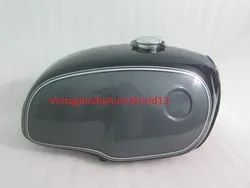 Bmw R100 Rt Rs R90 R80 R75 Black And Silver Painted Aluminum Gas Fuel Petrol Tank With Monza Cap