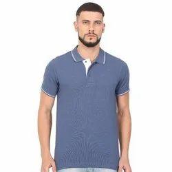 Mens Cotton Polo Neck T Shirts