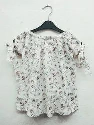 Cotton Casual Wear Girls Summer Top, 1 to 10 year
