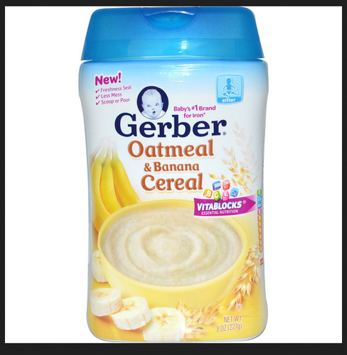 Gerber Oatmeal And Banana Cereal