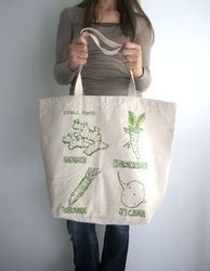 Cotton Made Shopping bags with Long Handle