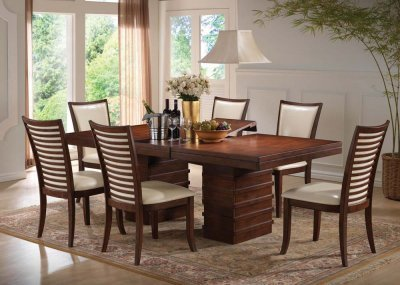 Bon Shad Solid Simple Dining Table With Optional Chair