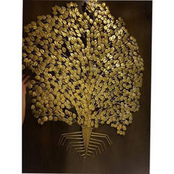 Golden Tree Wall Art