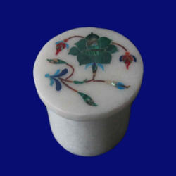 Rounded Marble Inlay Box