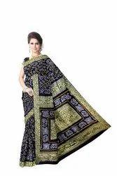 All Over Black Color Gaji Silk Bandhani Saree