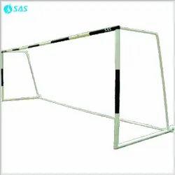 White SAS Steel Football Goal Post - Dynamic (Movable) 18' x 6', Size: 24'x8'