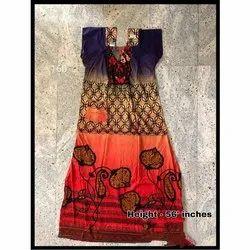 Printed Ladies Designer Nightgown, 56 inch(Height)