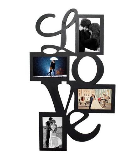 Black Make Your Own Beautiful 4 Pictures Love Collage Wall Frame, Rs ...