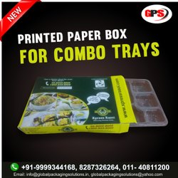 printed paper box for combo trays