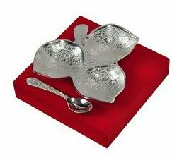 Silver Plated Three Khand Platter 6x6