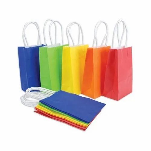 Colored Paper Hand Bag