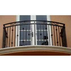 Black Balcony Mild Steel Grill, For Home