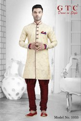 Party Wear Jacquard Designer Kurta, Mandarin Collar