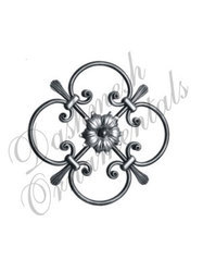 Decorative Metal Rosettes Flower