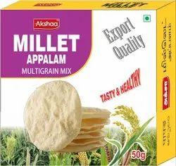 Basic Indian Akshaa Millet Multigrain Appalm 50g, Packaging Size: 50GM, Packaging Type: Box