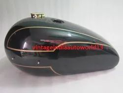 New Triumph T140 Black Painted Petrol Tank (Reproduction) With Brass Cap And Tap