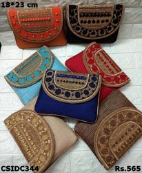 Colorful Party Ware Jute Clutch
