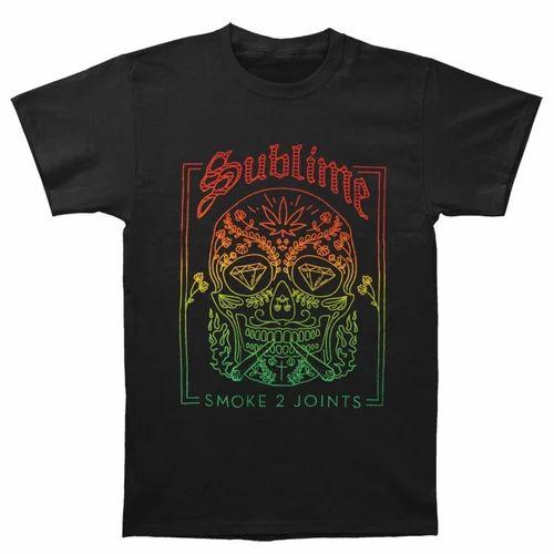 ebebf3e0 Black Cotton T-Shirt Non-Sublimation, Rs 130 /piece, Vision Media ...