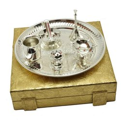 Silver Plated Pooja Thali Set