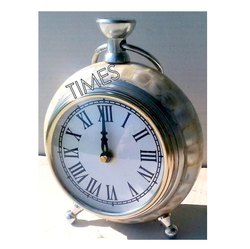White Brass & Plastic Nautical Desktop Clock, Packaging Type: Corrugated Box