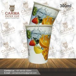 300 ML Disposable Juice Glass