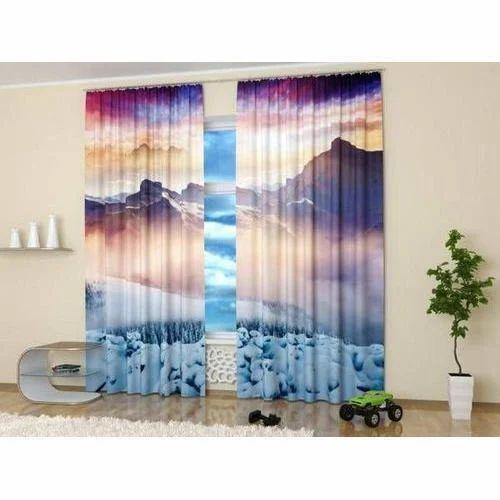 Printed 3D Curtain, Rs 300 /piece, Uma Sons | ID: 20125955212