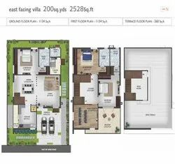 3 Villa Individual Houses, Area Of Construction: 133