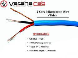 2 Core Thin Micro Phone Cable 7/38