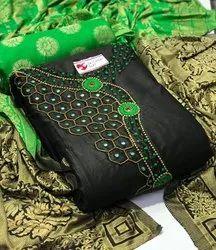 Cotton Unstitch Embroidery Suit