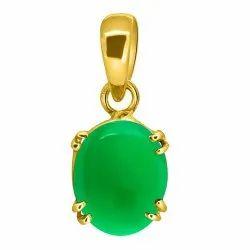 Green Onyx Pendant Asthdhatu Gemstone