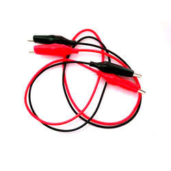 Plastic & Silver Part Red, Black Alligator Clip and Wire, For Equipment