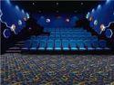 100% Nylon Rectangular Theatre / Multiplex Carpet, Weight:450-1800g/sqm