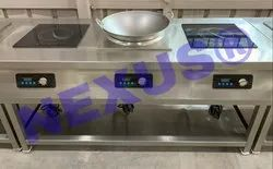 15 Kw Commercial Kitchen Induction Cooking Range