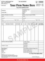 Bill Book , Tax/Sale Invoice, Print Size: 8.5x10.5