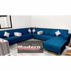 Blue Living Room Sofa Set