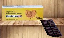 Voglibose 0.3 mg & Metformin 500 mg SR