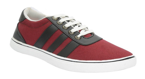 538a4732a3a1 Bucadia Men New Red Stylish Canvas Shoes