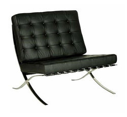 Black Modern Long And Tube Long Tub (008) Sofa, Living Room