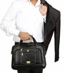 Hammonds Flycatcher Original Bombay Brown Leather Office Messenger Bag LB111BLK