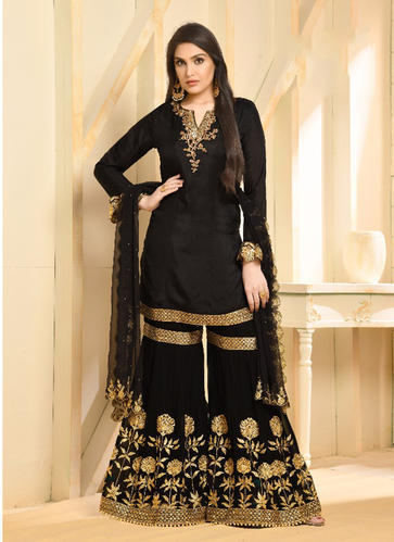 87b108884d19b Female Straight Wedding Wear Designer Sharara Suits